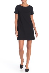 Theory Wool Blend Paneled Shift Dress