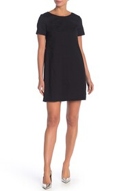 Theory Paneled Linen Blend Shift Dress