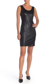 Theory Fitted Leather Tank Dress