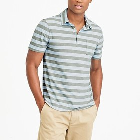 J. Crew Factory Striped short-sleeve polo shirt in