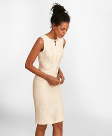 Brooks Brothers Soutache-Embroidered Linen Sheath