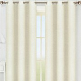 "Set of 2 Faux Linen Grommet Top Curtains - 38"" x 9"