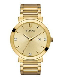 Bulova Modern Diamond & Goldtone Bracelet Watch GO