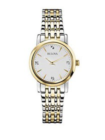 Bulova Diamonds Two-Tone Stainless Steel Bracelet