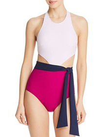 Flagpole - Lynn Sash Front One Piece Swimsuit