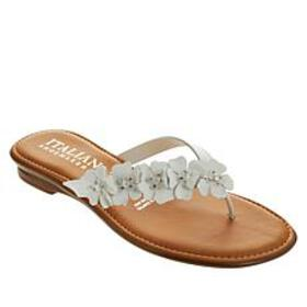Italian Shoemakers Fluffy Floral Thong Sandal