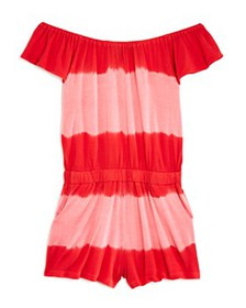 Splendid - Girls' Off-the-Shoulder Tie-Dyed Romper