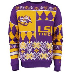 LSU Tigers Klew Thematic Ugly Sweater - Purple