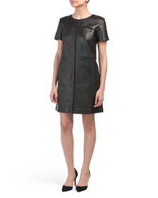 FRENCH CONNECTION Gizo Leather Dress