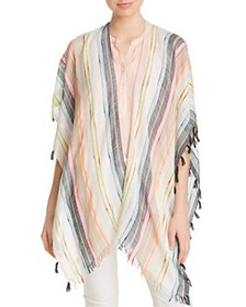 Echo - Boardwalk Tasseled Striped Ruana