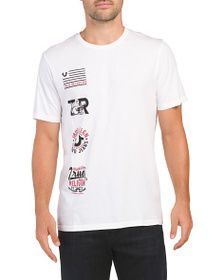 TRUE RELIGION Patch Right Short Sleeve Tee