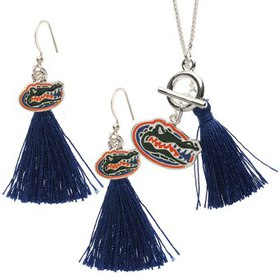 Florida Gators Women's Tassel Necklace and Earring