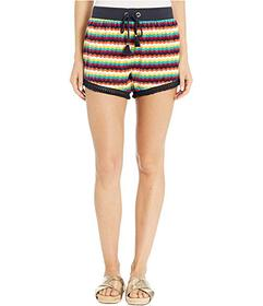 Juicy Couture Ric Rac Stripe Velour Track Shorts