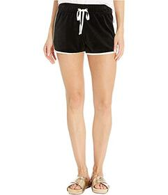 Juicy Couture Solid Velour Track Dolphin Shorts