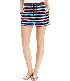 Juicy Couture Striped Velour Track Shorts