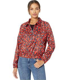 Juicy Couture Hyper Leopard Nylon Track Jacket