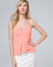 Bustier Top with Removable Straps