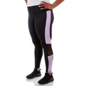 BEBE SPORT Plus Size Color Block Mesh Active Leggi