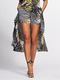 Mixed-Print Short - Gabrielle Union Collection - N