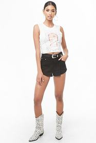 Forever21 Frayed-Hem Denim Shorts