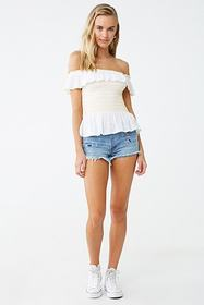 Forever21 Gauze Off-the-Shoulder Top