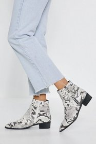 Nasty Gal Womens White If You Liked It Faux Leathe