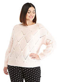 The Limited Plus Size Open Work Sweater