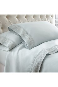 Modern Threads King Crochet Lace 4-Piece Sheet Set