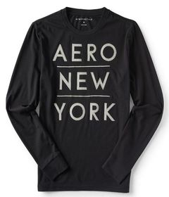 Aeropostale Long Sleeve Stacked Aero New York Grap