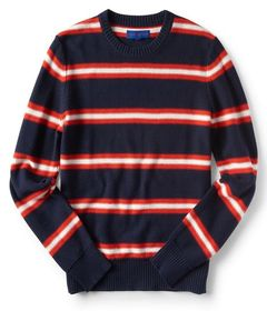 Aeropostale Striped Crew-Neck Sweater