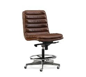 Pottery Barn Rothwell Standing Leather Desk Chair