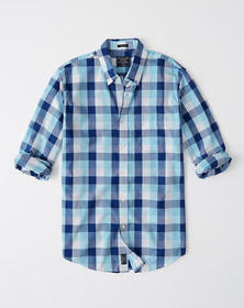 Relaxed Oxford Shirt, BLUE CHECK