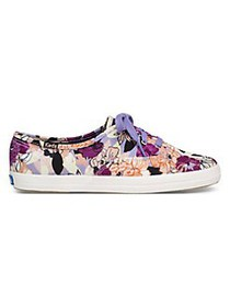 Keds Champion Floral Canvas Sneakers PURPLE