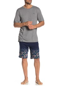 Tommy Bahama Floral Knit Pajama Shorts 2-Piece Set