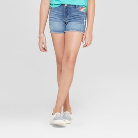 Girls' Embroidered Jean Shorts - Cat & Jack™