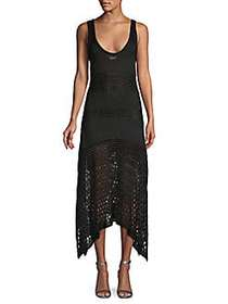 Proenza Schouler Crochet Asymmetric Dress BLACK