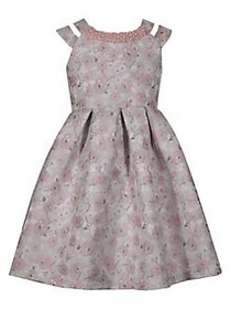 Iris & Ivy Little Girl's Double Strap Brocade Jacq