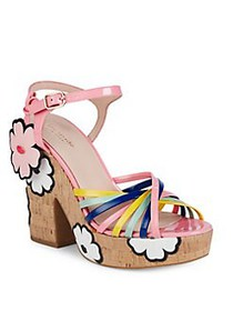 Kate Spade New York Gerry Floral Leather Platform