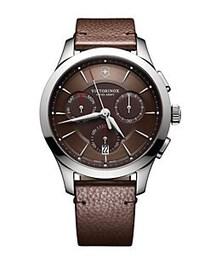 Victorinox Swiss Army Stainless Steel Leather Chro