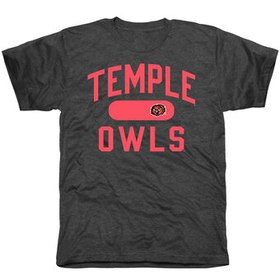 Temple Owls Athletic Issued Tri-Blend T-Shirt - Bl