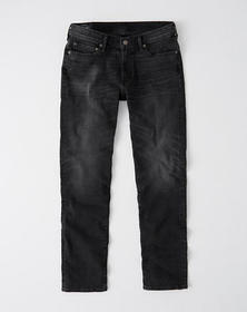 Straight Jeans, WASHED BLACK