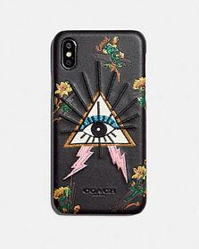 Coach iphone x/xs case with pyramid eye