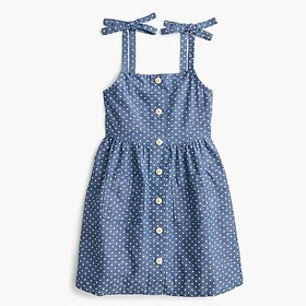 J. Crew Girls' button-front dress in chambray star