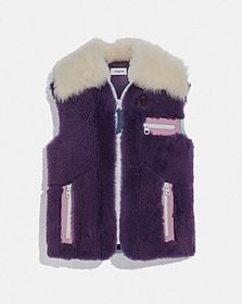 Coach shearling vest