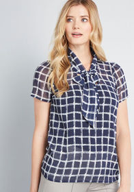 ModCloth ModCloth Profesh Connection Short Sleeve