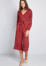 Louche Louche Flowy Functionality Jumpsuit Red