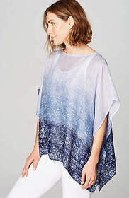 Pure Jill Ombré Airy-Weave Poncho