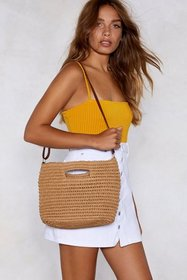 Nasty Gal Womens Natural WANT Like a Straw in the