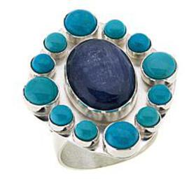 Jay King Kyanite and Andean Blue Turquoise Sterlin