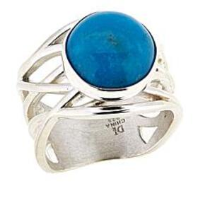 Jay King Round Red Skin Turquoise Sterling Silver